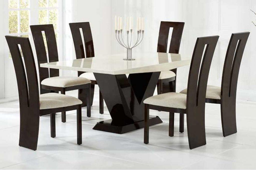 שולחן אוכל זכוכית ועץ 1