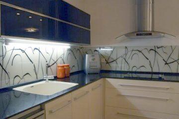 זכוכית מודפסת למטבח